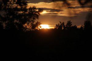 Sunset at Navadarshanam almost like Africa